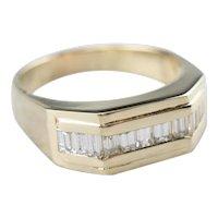 Unisex Diamond Statement Ring