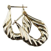 Vintage Decorative Hoop Earrings