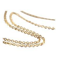 Vintage 18 Karat Gold Oval Link Chain