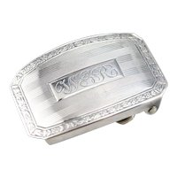 "Vintage Monogramed ""WGR"" Belt Buckle"