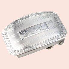 """Vintage Monogramed """"WGR"""" Belt Buckle"""