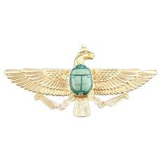 Egyptian Eagle Scarab Beetle Brooch