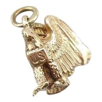 Handsome Eagle Charm with US Shield Motif