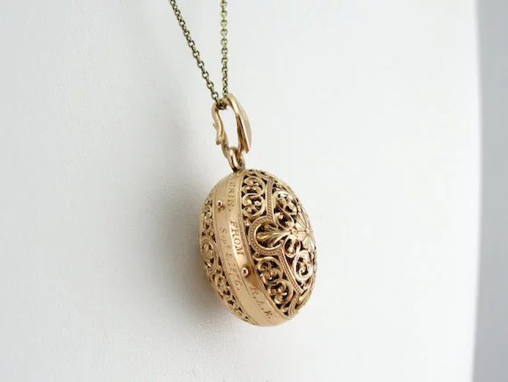 Victorian perfume pendant in 14k rose gold filigree dated 187 sold victorian perfume pendant in 14k rose gold filigree dated 187 aloadofball Choice Image