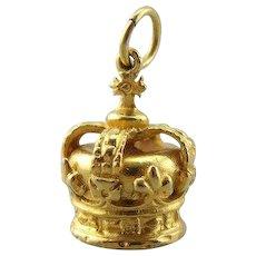 Queen Bee, Vintage Crown Charm or Pendant