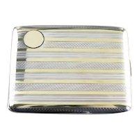 Vintage Elgin Striped Cigarette Case