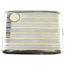 Vintage Elgin Striped Cigarette Case