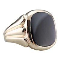 Classic Men's Black Onyx Statement Ring