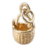 Little 14 Karat Gold Nantucket Basket Charm