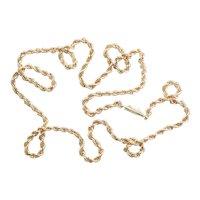 Heavy 14 Karat Gold Rope Twist Chain Necklace