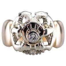 Men's Vintage Diamond Shriner Ring