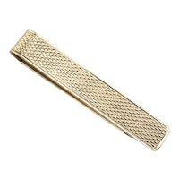 Vintage Textured 10 Karat Gold Tie Bar