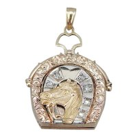 Vintage Diamond Horse Locket