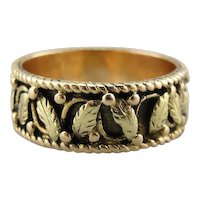Cigar Band with Black Hills 14K Gold Style, Crisp and Wondrous Foliage Band