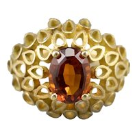 Funky Citrine Statement Ring
