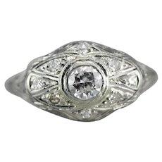 Upcycled Diamond Filigree Ring