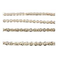 10K Antique Long Fancy Chain Necklace