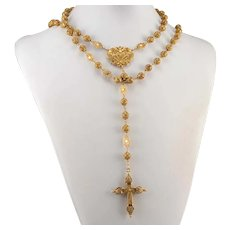 Portuguese Quilled Filigree Rosary