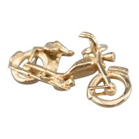 14K Motorcycle Charm