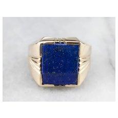 Men's Vintage Lapis Ring