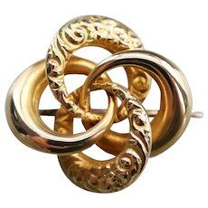 Antique Lover's Knot Pin or Pendant