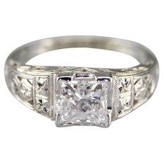 Stunning Upcycled GIA Princess Cut Diamond Ring