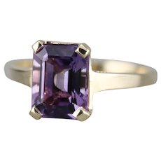 Upcycled Amethyst Solitaire Ring
