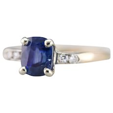 Upcycled Retro Sapphire and Diamond Ring