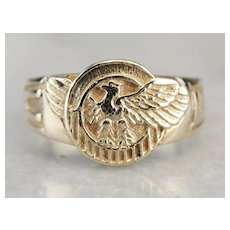 Vintage United State Eagle Statement Ring