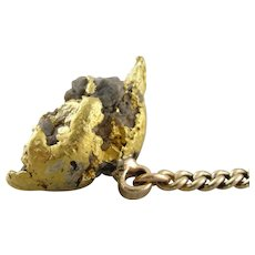 14 Karat Yellow Gold Nugget Keychain