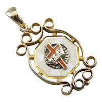 Upcycled HOC Knights Templar Pendant