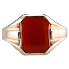 Unisex Vintage Carnelian Ring