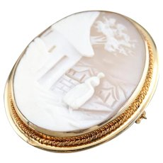 Vintage Rebecca By the Well Cameo Pendant or Brooch