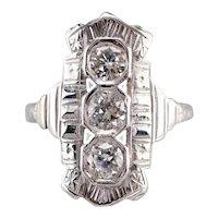 Antique Old Mine Cut Diamond Ring