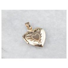 Small Vintage Heart Shaped Locket