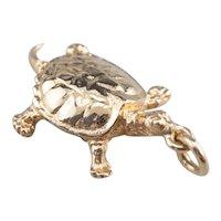 Vintage Turtle Charm or Pendant
