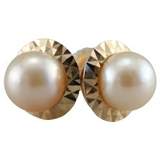 Pretty Cultured Pearl Stud Earrings