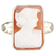 Vintage 1940's Cameo Ring