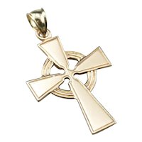 Vintage 14 Karat Gold Celtic Cross