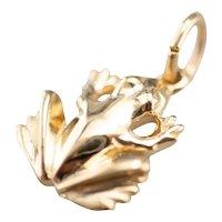 Detailed Sweet Little Frog Charm or Pendant