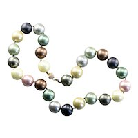 Pastel Imitation Pearl Beaded Necklace