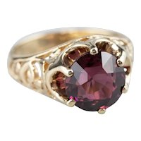 Rhodolite Garnet Filigree Statement Ring