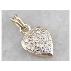 Sparkling Diamond Heart Pendant