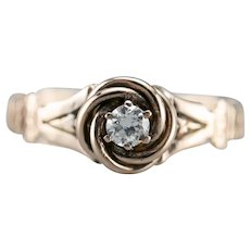 Upcycled Lover's Knot Diamond Ring