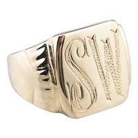 "Mid-Century ""SW"" Signet Ring"