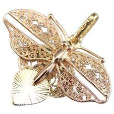 Sweet Filigree Butterfly Pendant