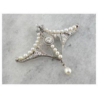 Edwardian Era Diamond Pendant