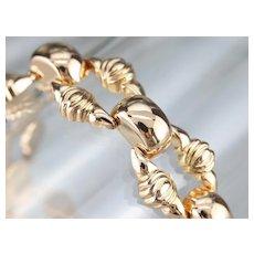 Vintage Rose 18 Karat Gold Link Bracelet