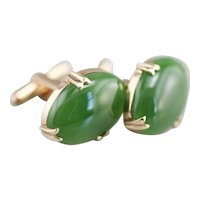 Retro Era Men's Jade Cabochon Cufflinks