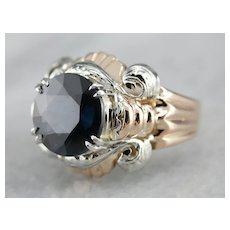 Upcycled Retro Spinel Cocktail Ring